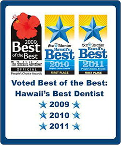 Hawaii's Best Dentist 2009 2010 2011