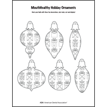 Decorate a tooth-themed ornament activity sheet 3