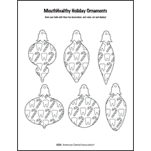 Decorate a tooth-themed ornament activity sheet 4