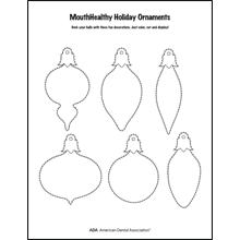 Decorate a tooth-themed ornament activity sheet 5
