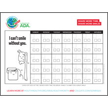 Oral Health Month Brushing Calendar
