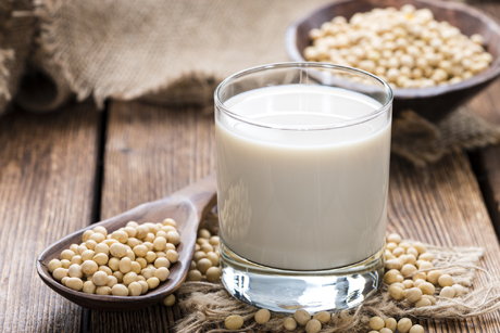 glass of soy milk