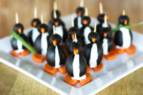 Black Olive Penguins from Foodie with Family