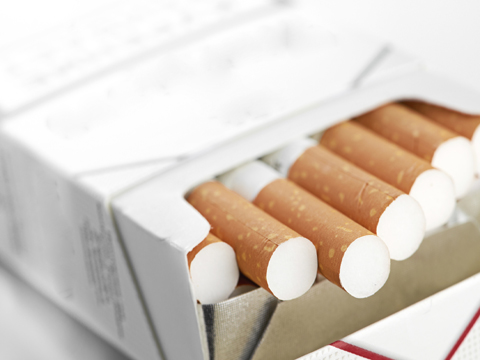 Cigarettes in a pack